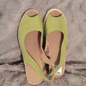 New open toed espadrilles